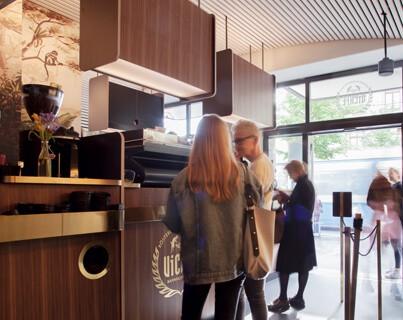 coffee shop interior, zurich, bahnhofstrasse