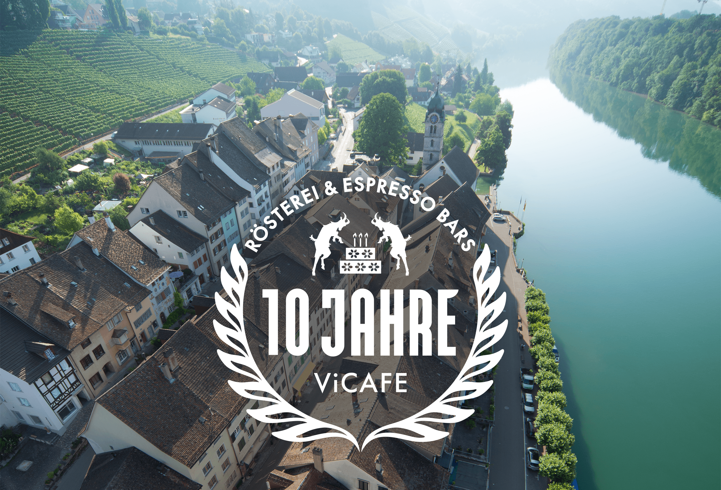 Eglisau Switzerland with Vicafe logo