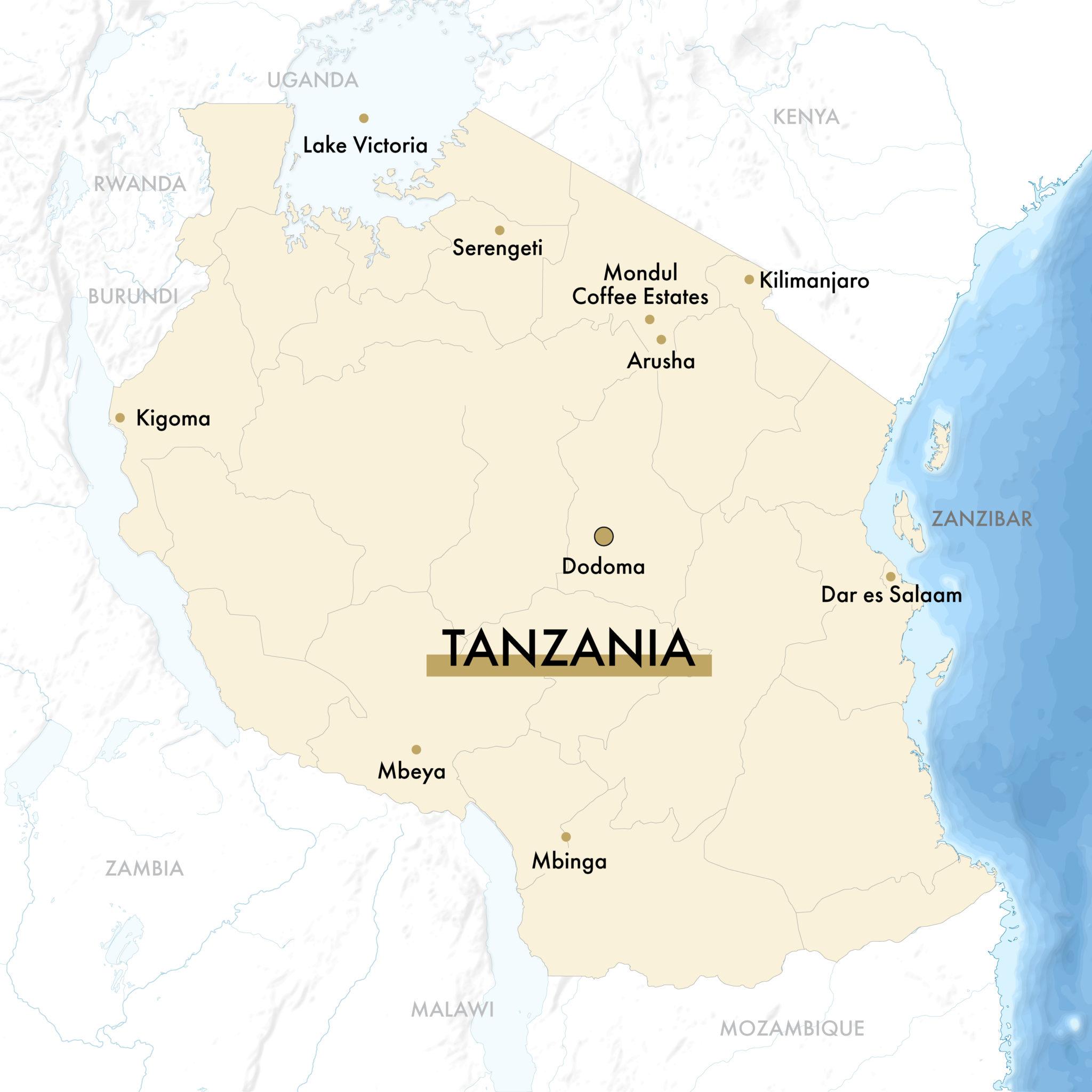 Map Tanzania