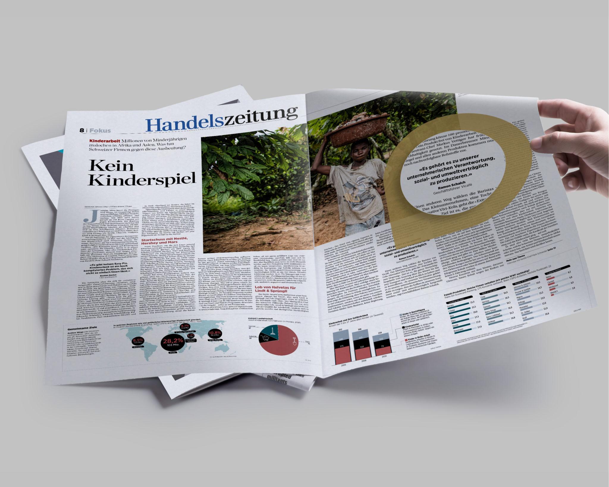 Handelszeitung Artikel über Kinderarbeit