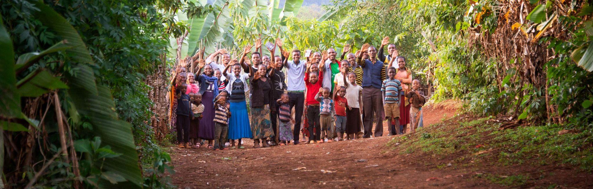 alemayehu family waving goodby