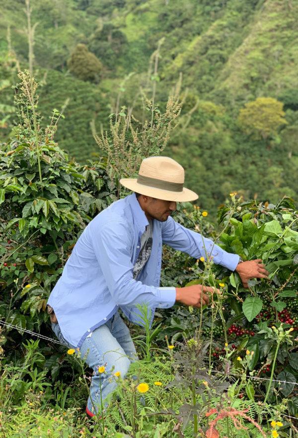 Oscar coffee farmer on Finca Los Nogales