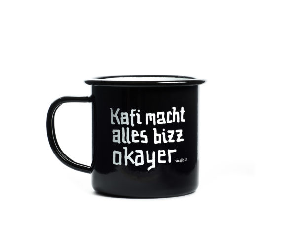 ViCAFE Emaille Cup - Kaffi macht alles...