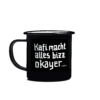 This image ViCafe_Emaille_Cup_KaffiMachtAlles is for visual improvements for page ViCAFE Enamel Cup